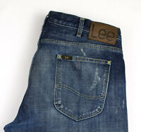 Lee Hommes Chasse Droit Jambe Jeans Vieilli Taille W36 L34 AMZ576