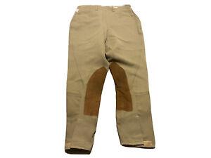 Tailored Sportsman Beige English Breeches Women's 28 Tan Equestrian Pants