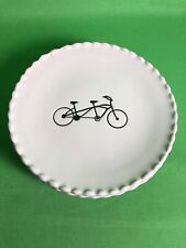 TAG Dessert Plates 6 Inches Set Of 5 Scalloped Edges Tandem Bike 2015 New
