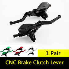2X Motorcycle Master Cylinder Reservoir Hydraulic Brake Clutch Lever Black CNC