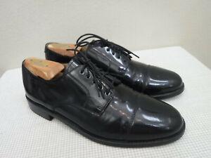 Men's COLE HAAN 9.5 D Black Patent Leather Cap Toe Dress Formal Oxfords Shoes