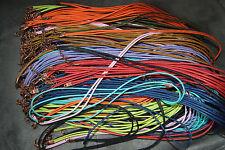 Halsband Armband samt 45 cm Halskette Leder Neu Material Samt viele Farben rot 1