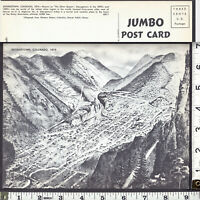 JUMBO: Georgetown 1874 View of Colorado Mining Town on a 1940's vintage PostCard
