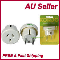 AU&NZ to EU AC Power Plug Adapter Travel2Pin Converter from AUS Australian KORJO