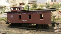 Roundhouse MDC HO Old Time Caboose, Chicago North Western , Upgraded, Exc.