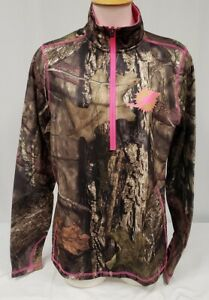 Brand New Majestic NFL Women's Miami Dolphins 1/2 Zip Coolbase Sweatshirt Pink