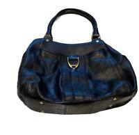 Cole Haan Women's Tote Black Leather Shoulder Handbag Purse Bag Zipper Pockets