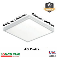 Surface Mount Led Ceiling 48W Commercial Industrial White 600 x 600 Panel Light