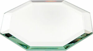 Plymor Octagon 5mm Beveled Glass Mirror, 4 inch x 4 inch (Pack of 12)