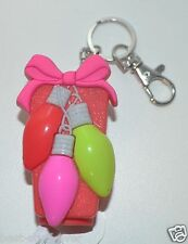BATH  BODY WORKS CHRISTMAS LIGHTS LIGHT UP POCKET  BAC HOLDER SANITIZER KEYCHAIN