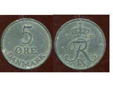 DANEMARK   5 ore 1952   zinc