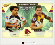 2012 Select NRL Champions Showtime Holochrome Card ST1 Thaiday/Parker (Broncos)