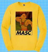 Masc Man Long Sleeve Skeletor Gay Pride LGBT Dom Bottom Muscle Top