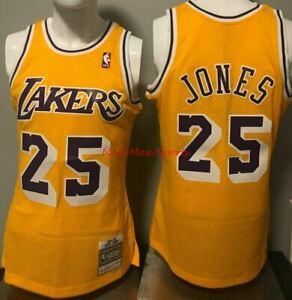 EDDIE JONES Los Angeles LAKERS 1994-95 Mitchell and Ness Swingman JERSEY Sz XXL