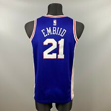 PHILADELPHIA 76ERS NBA JOEL EMBIID BASKETBALL JERSEY SWINGMAN NIKE SIZE S