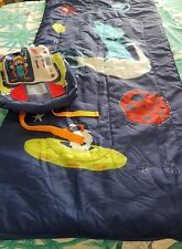 BOYS SLEEPING BAG ALIENS IN A RUCKSACK WITH PLASTIC DRINKING BOTTLE