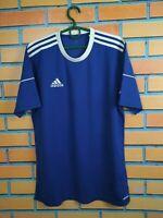 Adidas Jersey MEDIUM Shirt Mens Blue Trikot Camiseta Maglia Training S99149