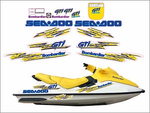 SEADOO GTI 1997 Graphics / Decal Replacement Kit  Blue