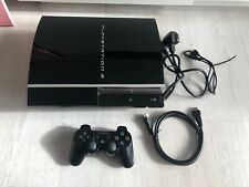 Sony Playstation 3 PS3 Fat 40GB Black Console Set Up - Tested/Working- CECHG03