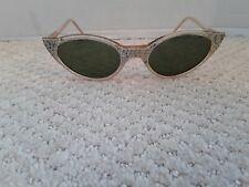 Vintage 1950s Catseye Rhinestone Sunglasses Made in France