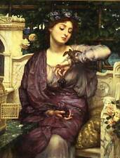 Sir Edward John Poynter lesbia and her sparrow Oil Painting repro