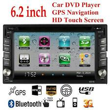 "6.2"" Double 2 DIN HD Car Stereo DVD VCD CD Player GPS Navigation Bluetooth Radio"
