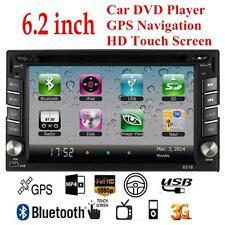 "6.2"" Double 2 DIN HD Car Stereo DVD VCD CD Player GPS Navigation Bluetooth Radio"