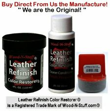 Leather Refinish Color Restorer® 3pc Kit Moca Brown 4 oz ~ We are the Original!