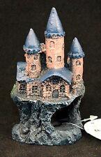 Beautiful Blue Castle,SMALL aquarium ornament fish tank decoration Gif