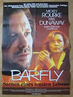 Filmposter * Kinoplakat * A1 * Barfly * 1988 * Mickey Rourke + Faye Dunaway