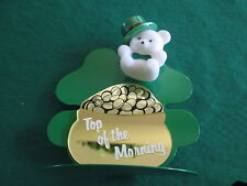 "Vintage Avon ""Top Of The Morning Teddy"" Ornament & Pin *New In Box*Old Stock"