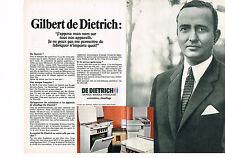PUBLICITE ADVERTISING 014   1968   GILBERT DE DIETRICH  cuisinière chauffage ( 2