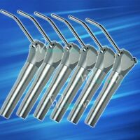 6pcs Dental 3 Way Triple Metal Air Water Syringe Handpiece 12 Nozzles Instrument
