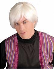 ADULT MALE ARTIST PLATINUM WHITE WIG MR POP MOVIE STAR ANDY WARHOL COSTUME WIG