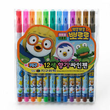 12Pcs Pororo Marker Set Highlight 12 Color Korean Character Korea New Kids ige