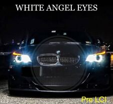 BMW E60 E61 PRE LCI LED XENON BRIGHT WHITE ANGEL EYE HALO RING LIGHT BULBS