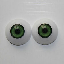 22mm Green Real Acrylic Eyeball 1 Pair Fit for Reborn Baby Dolls Accessories