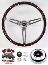 "1957 Bel Air 210 150 steering wheel CLASSIC BOWTIE 15"" MAHOGANY MUSCLE CAR"
