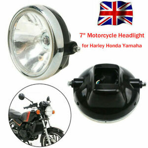 7inch Universal 1Pcs Headlight Motorcycle Front Lamp High Low beam chrome Black