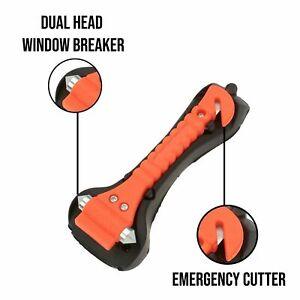 2in1 Emergency Escape Tool Car Window Glass Breaker and Seat Belt Cutter Hammer