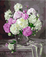 """16X20"""" DIY Paint By Number Kit Oil Painting On Canvas--Flowers Vase Indoor 1855"""
