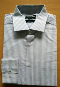 MENS Classic Fit LONG SLEEVED SHIRT EX DEBENHAMS COLLECTION SIZES 15.5 - 20.5