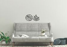 Fire And Water Elements Inspired Design Nature Wall Pets Art Decal Vinyl Sticker