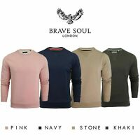 Brave Soul Mens Jumper  Jones Sweater Crew Neck