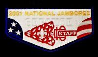 2001 BOY SCOUT BSA JAMBOREE ORDER OF THE ARROW 2017 OA STAFF SERVICE FLAP TUFF