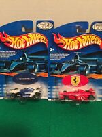 Lot Of 2 Formula 1 Hotwheels,  Ferrari and Williams