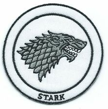 Game of Thrones House Stark Iron-on Embroidered Patch 7.8x7.7cm Good Luck Magic