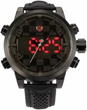 Reloj Deportivo Shark Para Hombre De Moda Pantalla Digital LED con Fecha Día Alarma de Cuarzo Negro R