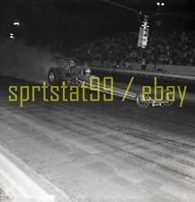"""""""Carter Paints"""" Rear Engine Dragster Burnout - Vintage Race Negative"""