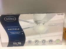 (Missing Shade) Harbor Breeze Mayfield 44-in White Indoor Flush Mount Ceiling